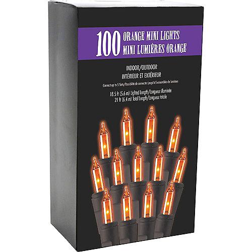Orange Incandescent Plastic String Lights, 100 Bulbs, 21ft Image #3
