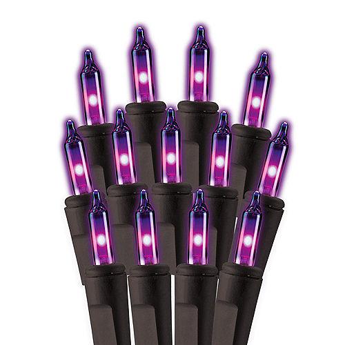 Purple Incandescent Plastic String Lights, 100 Bulbs, 21ft Image #1