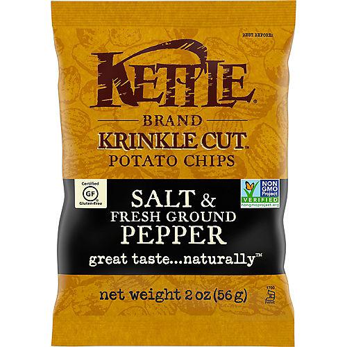 Kettle Brand Potato Chips, 2oz - Salt & Fresh Ground Pepper Image #1