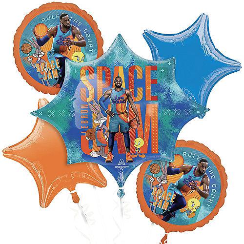 Space Jam 2 Foil Balloon Bouquet, 5pc Image #1