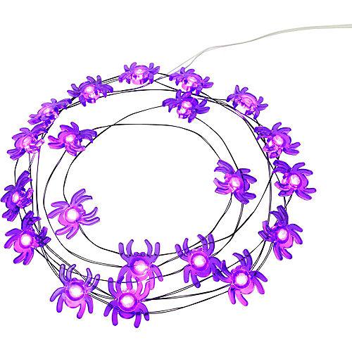 Purple Spider Halloween LED Plastic String Lights, 20 Bulbs, 6.3ft Image #1