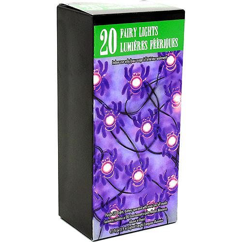 Purple Spider Halloween LED Plastic String Lights, 20 Bulbs, 6.3ft Image #5