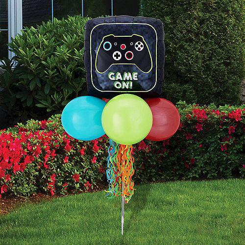 Air-Filled Game On Foil & Latex Balloon Yard Sign, 62in Image #1