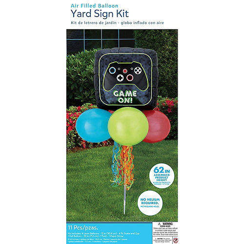 Air-Filled Game On Foil & Latex Balloon Yard Sign, 62in Image #4