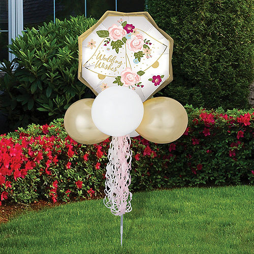 Air-Filled Wedding Bells Foil & Latex Balloon Yard Sign, 64in Image #1