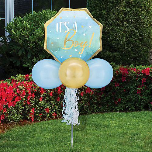 Air-Filled It's a Boy! Foil & Latex Balloon Yard Sign, 64in Image #1