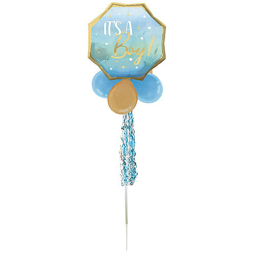 Air-Filled It's a Boy! Foil & Latex Balloon Yard Sign, 64in Image #2