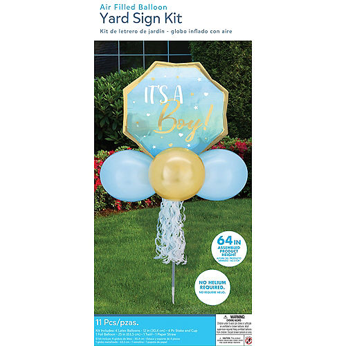 Air-Filled It's a Boy! Foil & Latex Balloon Yard Sign, 64in Image #4