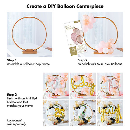 Air-Filled Gold Dot & Heart Satin Foil Balloon, 13in x 14in Image #2