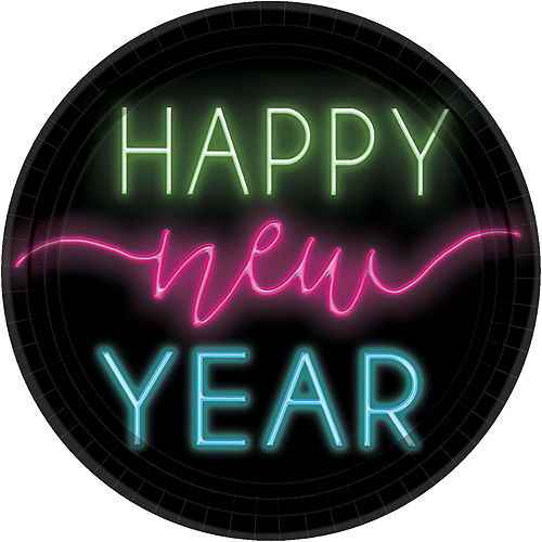 Neon Glow New Year's Party Kit for 16 Guests Image #3