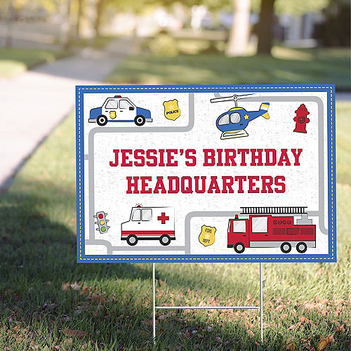 Custom First Responders Yard Sign Image #1
