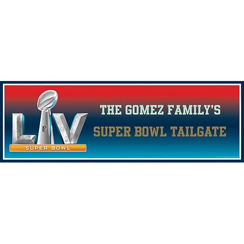 Custom Super Bowl 55 Horizontal Banner Image #1