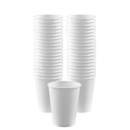 White Paper Coffee Cups, 12oz, 50ct Image #1