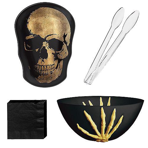Metallic Glam Boneyard Halloween Serveware Kit Image #1