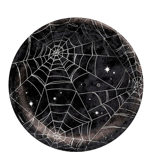 Black & White Spiderweb Halloween Tableware Kit for 10 Guests Image #3