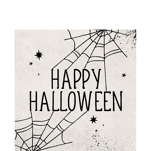 Black & White Spiderweb Halloween Tableware Kit for 10 Guests Image #5