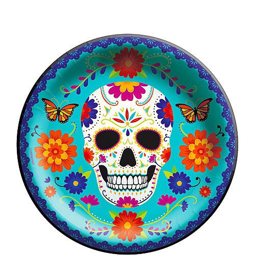 Sugar Skull Day of the Dead Tableware Kit for 12 Guests Image #3