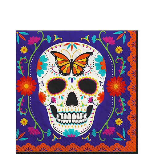 Sugar Skull Day of the Dead Tableware Kit for 12 Guests Image #5