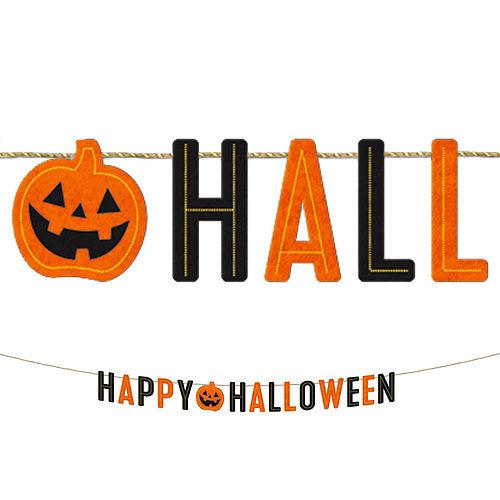 Classic Black & Orange Halloween Room Decorating Kit Image #2