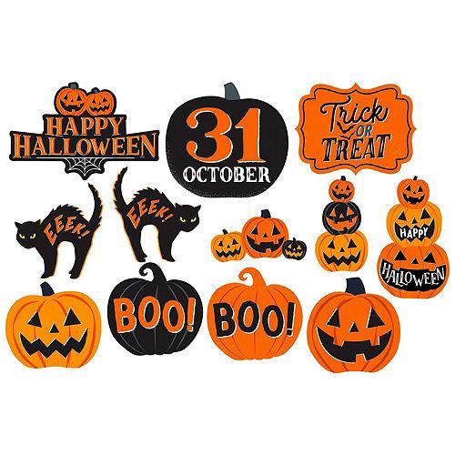 Classic Black & Orange Halloween Room Decorating Kit Image #4