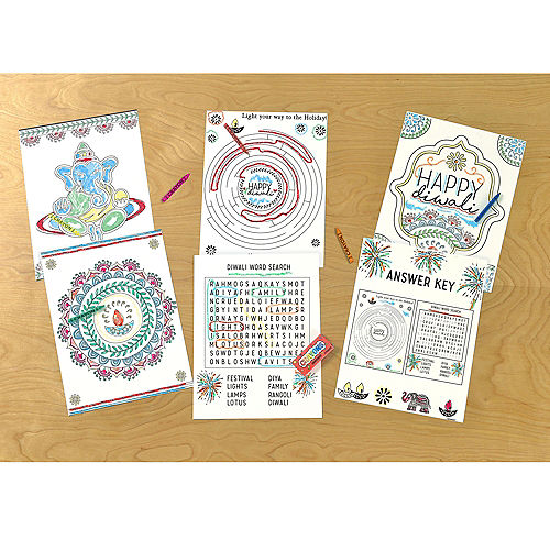 Diwali Coloring & Activity Pages, 10ct Image #1