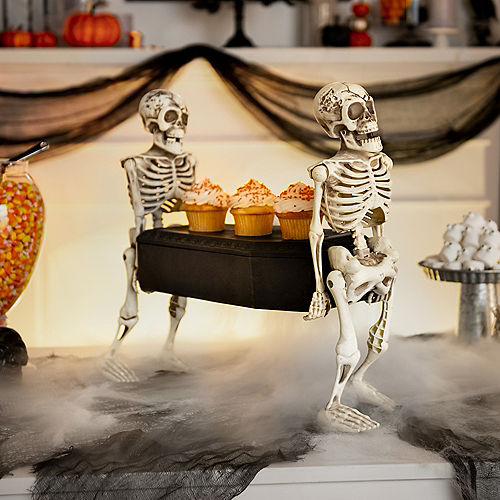 Animated Skeletons Carrying Coffin Plastic Decoration with Music, 22.5in x 17.3in Image #3