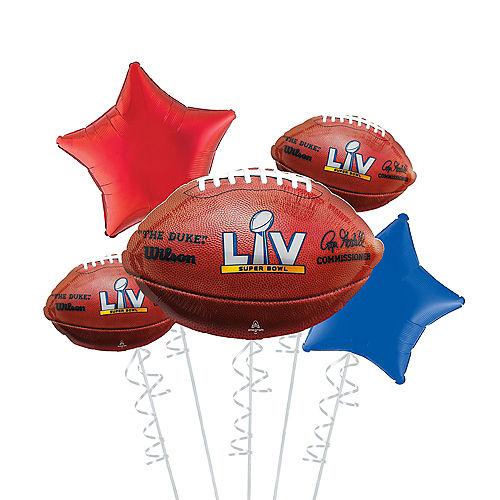 Super Bowl 55 Foil Balloon Bouquet, 5pc Image #1