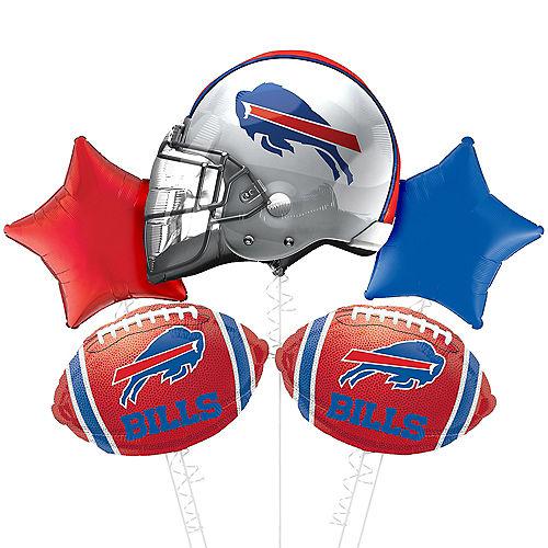 Buffalo Bills Helmet Foil Balloon Bouquet, 5pc Image #1