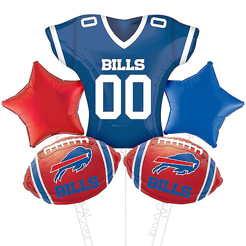 Buffalo Bills Jersey Foil Balloon Bouquet, 5pc Image #1