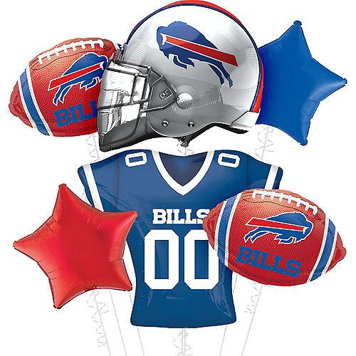 Premium Buffalo Bills Foil Balloon Bouquet, 8pc Image #1