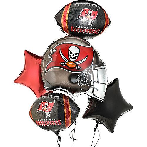 Tampa Bay Buccaneers Helmet Foil Balloon Bouquet, 5pc Image #1