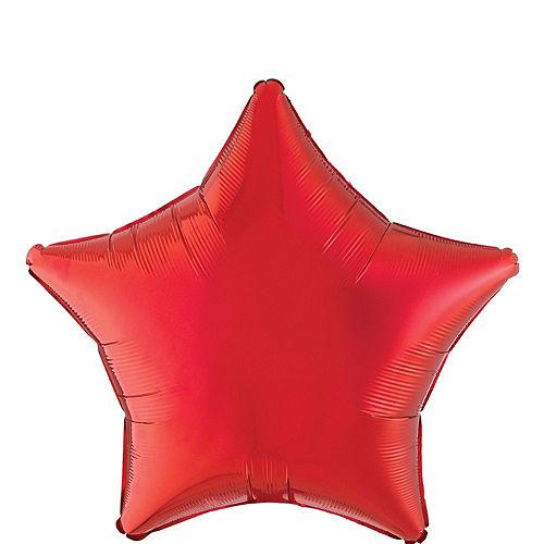 KC Chiefs Jersey Foil Balloon Bouquet, 5pc Image #3