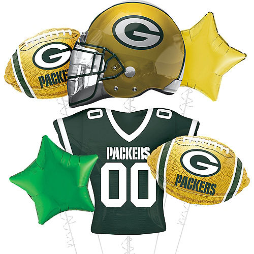 Premium Green Bay Packers Foil Balloon Bouquet, 8pc Image #1
