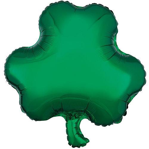 Emerald Isle Shamrocks St. Patrick's Day Foil Balloon Bouquet, 13pc Image #2