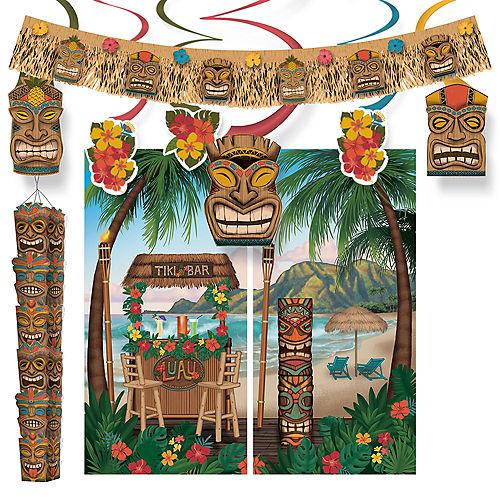 Vintage Tiki Wall Decorating Kit Image #1