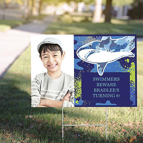 Custom Shark Photo Yard Sign Image #1
