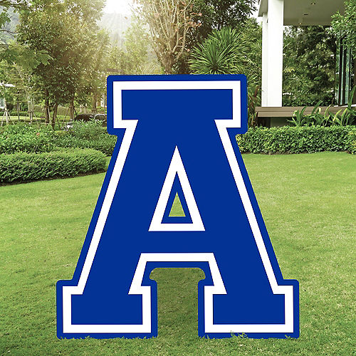 Royal Blue Collegiate Letter (A) Plastic Yard Sign, 30in Image #1