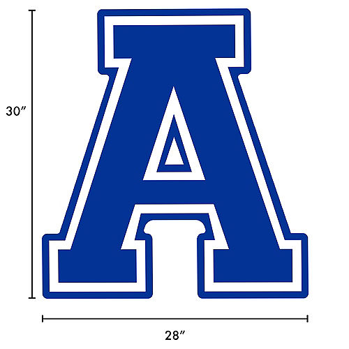 Royal Blue Collegiate Letter (A) Plastic Yard Sign, 30in Image #2