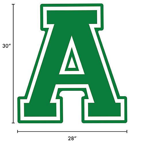 Festive Green Collegiate Letter (A) Plastic Yard Sign, 30in Image #2