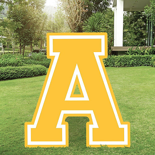 Yellow Collegiate Letter (A) Plastic Yard Sign, 30in Image #1
