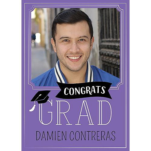 Custom Purple Graduation Photo Announcements Image #1