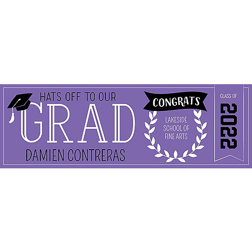 Custom Purple Graduation Horizontal Banner Image #1
