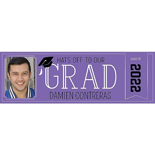 Custom Purple Graduation Photo Horizontal Banner Image #1