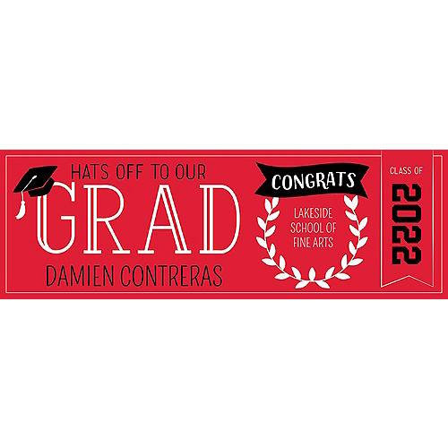 Custom Red Graduation Horizontal Banner Image #1