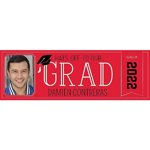 Custom Red Graduation Photo Horizontal Banner Image #1