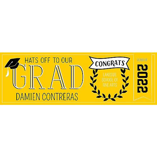 Custom Yellow Graduation Horizontal Banner Image #1