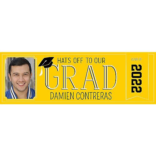 Custom Yellow Graduation Photo Horizontal Banner Image #1