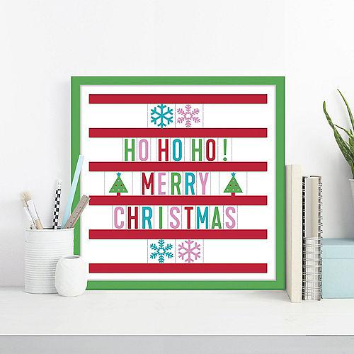 Christmas Cardboard & Plastic Letter Board Kit, 12in x 12in, 115pc Image #1