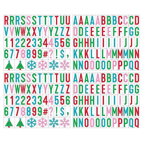 Christmas Cardboard & Plastic Letter Board Kit, 12in x 12in, 115pc Image #2