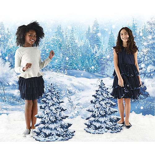Winter Wonderland Holiday Scene Setter with Standing Cutouts Image #1